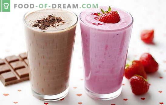 Milchshake-Rezept zu Hause: mit Beeren, Früchten, Schokolade, Nüssen. Die besten Milchshakes sind da!
