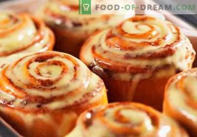 Cinnabon sausainiai yra geriausi receptai. Kaip tinkamai ir skaniai virti Cinnabon bandelės namuose