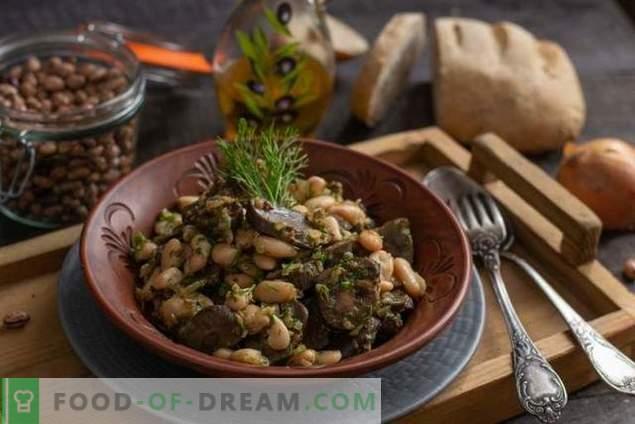 Jautienos inkstai su pupelėmis - paprastos šiltos salotos