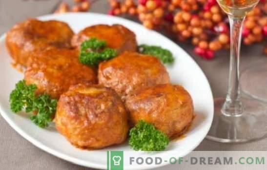 Mėsos riešutai pomidorų padaže orkaitėje - patiekalas su padažu! Įvairių mėsos riešutų receptai pomidorų padaže orkaitėje su ryžiais, daržovėmis, grybais, žuvimi