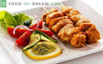 Piščančji kebab - najboljši recepti. Kako kuhati piščančje nabodala.