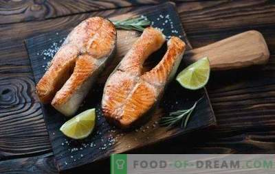 Trout steak in the oven - for the royal feast! Recipes for steaks with trout in the oven with cream, vegetables, shrimps, oranges