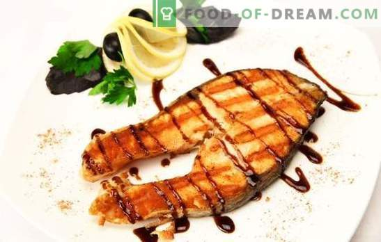 Kepta lašiša: kilnus žuvis - vertas virimo! Su imbieru, daržovėmis citrinų marinatu: įvairūs kepta lašišos patiekalai