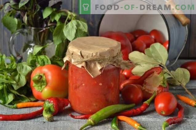 Pomidory we własnym soku z bułgarską papryką na zimę