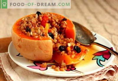 Gevulde pompoen - de beste recepten. Hoe goed en smakelijk koken gevulde pompoen.