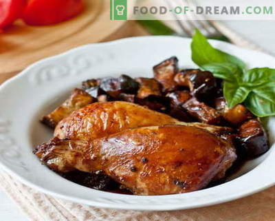 Eggplant chicken - the best recipes. How to properly and deliciously cook eggplant chicken.