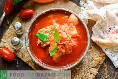 Skanus Ukrainos borschtas pagal klasikinį receptą