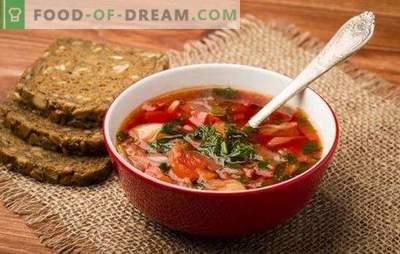 Rusijos shchi: pasaulio šlovės paslaptys. Senosios ir naujos Rusijos sriubos receptai: rūgštus, švieži, žalūs, su giromis, su šparagais