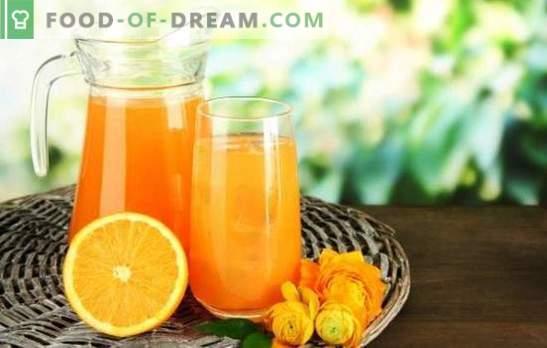 Gėrimas iš apelsinų namuose - malonumo ir naudos gesinimas. Kokie gėrimai iš apelsinų gali būti ruošiami namuose?