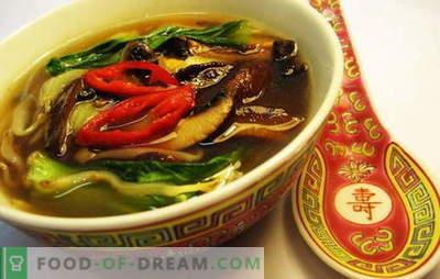 Kinijos sriuba - kelyje į Rytų išmintį. Kinų sriubos receptai su makaronais, ryžiais, jūros gėrybėmis, pomidorais, Funchoza ir žuvimis