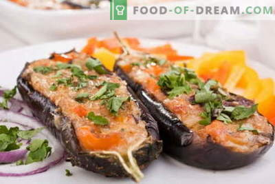 Eggplant baked in the oven - the best recipes. How to properly and tasty cook baked eggplant.