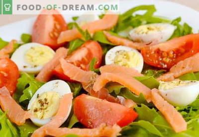 Salotos su lašišų ir kiaušinių receptais atostogoms ir kiekvienai dienai
