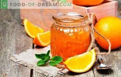 Kvapnieji apelsinų džemai: kaip padaryti apelsinų delikatesą. Apelsinų džemo receptai su citrina, imbieru, cinamonu