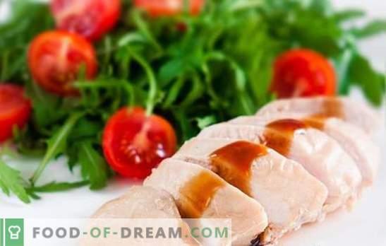 Kaip virti mėsos virti krūtinę? Receptai su virtomis vištienos krūtinėlėmis: blynai, salotos, keptuvės, pyragai