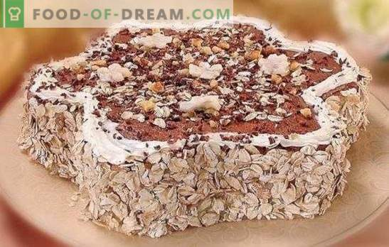 Tortas iš avižinių sausainių skubėti! Įvairių pyragų gamyba iš avižinių sausainių: su bananais, vyšniomis, varškės, želatina, kremo brulė