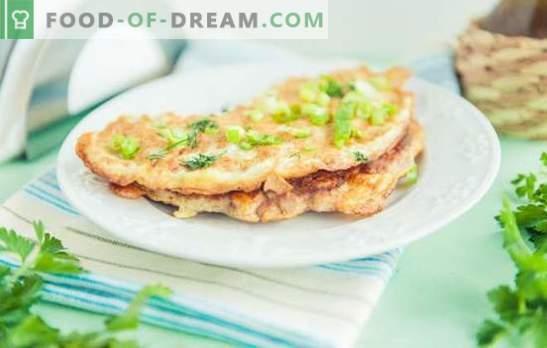 Vištienos brizolis - restorano patiekalas pagrindiniame meniu. Vištienos įdaro ir omletų paruošimo vištienos brise savybės