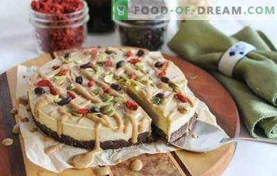 Raw food cake - sweet with good. Recipes for raw food cakes based on nuts and dried fruits