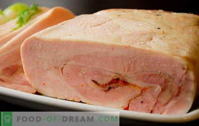 Vištienos ir kiaulienos kumpis namuose - ne arti! Vištienos ir kiaulienos naminių kumpių receptai