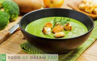 Broccoli puree soup - for health, mind and beautiful figure. Recipes for broccoli cream soups with cream, cheese, chicken, mushrooms