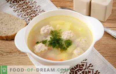 Soup with minced pork meatballs: photo recipe! Light and nourishing soup for the whole family in 45 minutes