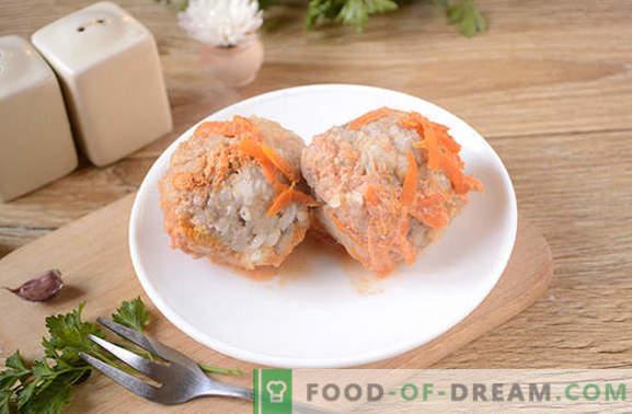 Mėsos riešutai pomidorų ir grietinės padaže lėtoje viryklėje - nieko nevalgius! Laipsniškas mėsos taukų receptas lėtoje viryklėje, pagaminto iš maltos mėsos su ryžiais