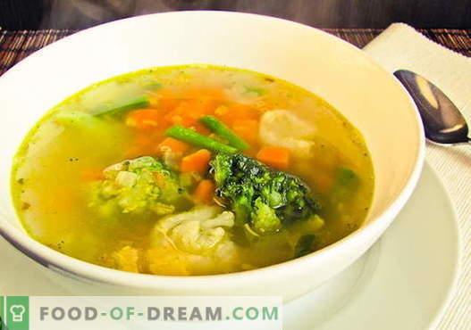 Žiedinių kopūstų sriuba - geriausi receptai. Kaip tinkamai ir skaniai virti žiedinių kopūstų sriuba.
