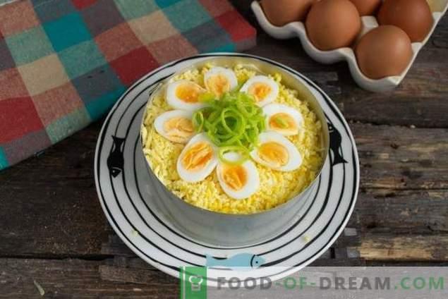 Salade étagée au thon à la