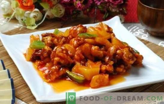Mėsos saldžiarūgščiame padaže kinų kalba yra legenda! Mėsos receptai kiniškame saldžiarūgščiame padaže su ananasais, daržovėmis, teriyaki