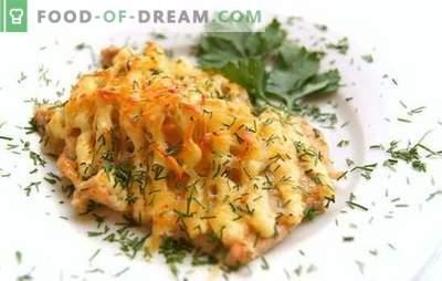 Žuvis majoneze orkaitėje - nepretenzingas patiekalas! Receptai kepti žuvims majoneze orkaitėje su bulvėmis, sūriu, įvairiomis daržovėmis