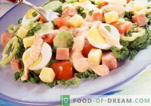 Virėjo salotos - geriausių receptų pasirinkimas. Kaip tinkamai ir skaniai virėjas virėjai.