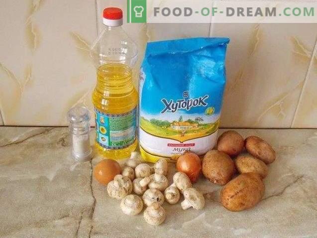 Bulvių zrazy su grybais