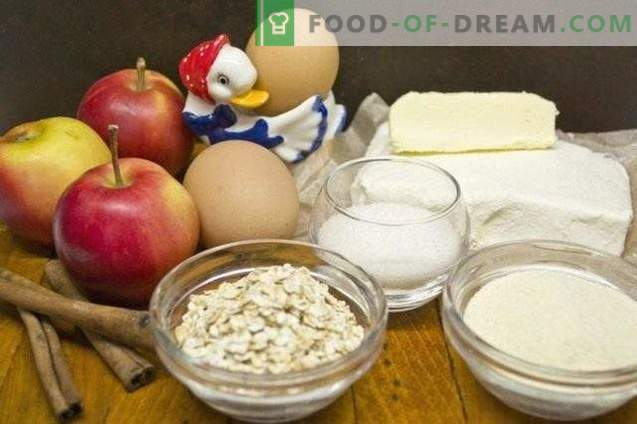 Kotedžo sūrio troškinys su obuoliais ir Hercules