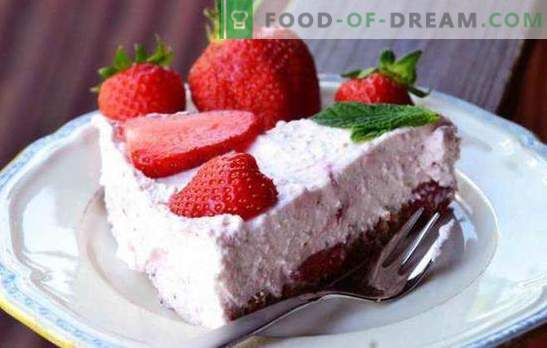 Ricotta pyragas yra sveikas ir skanus desertas! Paprasti ir ricotta pyragaičiai su želatina, uogomis, šokoladu