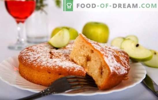Dietinis obuolių pyragas - neatspindės juosmens! Receptai ir gudrybės virimo dieta su obuoliais