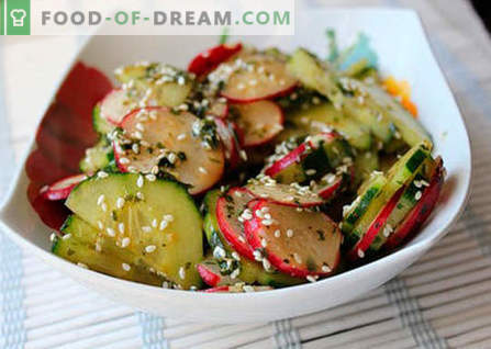 Japonijos salotos - geriausi receptai. Kaip tinkamai ir skaniai virti japoniškų salotų.