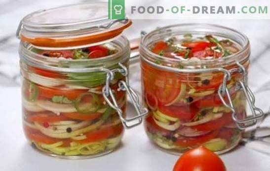 Skanios pomidorų salotos žiemai: vitaminai stiklainiuose visai šeimai. Geriausi skanių salotų receptai pomidorų žiemai