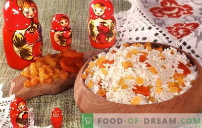 Košė su razinomis - jūsų pusryčiai! Geriausi receptai košėi su razinomis: ryžiai, soros, avižiniai dribsniai, grikiai, kukurūzai