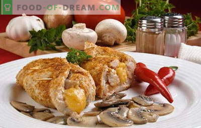 Grybai su grybais! Įvairių rūšių mėsos su grybais: paprastas, įdaras, liesas, mėsa ir vištiena