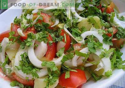 Vasaros salotos - geriausi receptai. Kaip tinkamai ir skaniai paruošti vasaros salotas.