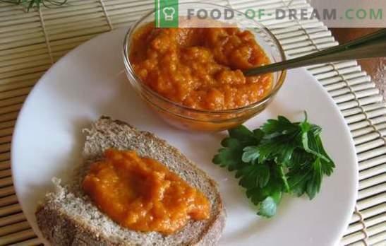 Skvošas ikrai su pomidorais žiemai. Skvošas ikrai su pomidorais žiemai: orkaitėje, konvekcinėje krosnyje, lėtai viryklėje