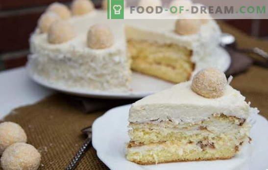 "Amazing Raffaello pyragas: receptai namuose. Visos ""Raffaello"" pyragas namuose paslaptys ir subtilybės"