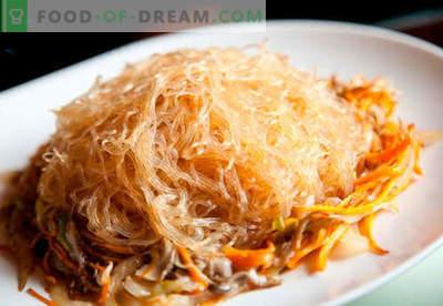 Macarrão de arroz - as melhores receitas. Como cozinhar corretamente e saboroso macarrão de arroz em casa.