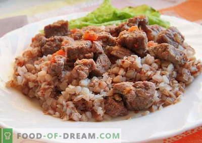 Boekweit met vlees - de beste recepten. Hoe goed en lekker gekookte boekweit met vlees.