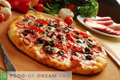 Pica tešla - geriausi receptai. Kaip paruošti tešlą picai.