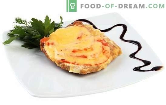 Kiauliena su sūriu ir pomidorais yra atskiras patiekalas ir papildomas šoninis patiekalas. Geriausi kiaulienos receptai su sūriu ir pomidorais