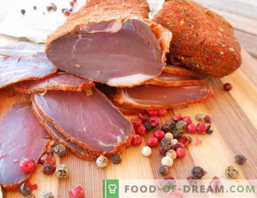Džiovinta mėsa - geriausi receptai. Kaip tinkamai ir virti trūkčiojantis.