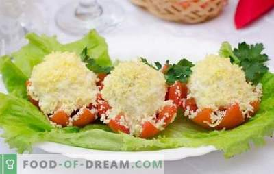 Pomidorai su majonezu ir česnakais - pikantiškas vasaros užkandis. Geriausių pomidorų receptų su majonezu ir česnakais pasirinkimas