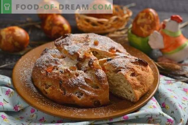 Ostern Osterkuchen mit Hüttenkäse und kandierten Früchten