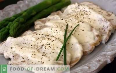 """Mėsa grietinės padaže yra skanus šeimos maistas. Grietinė, kaip """"pagrindinis smuikas"""" mėsos patiekalams grietinės padaže"""