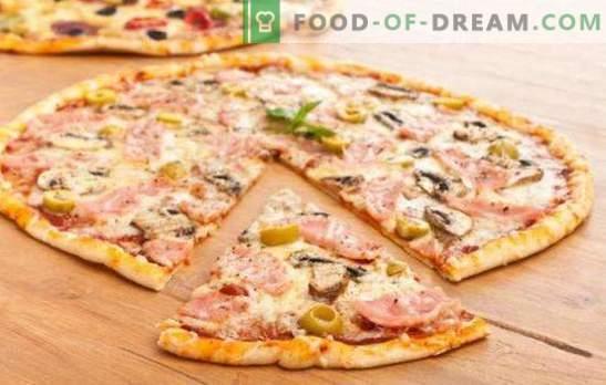 Plona picos tešla - italų paslaptis! 7 geriausi plonų picos tešlos receptai: be mielių ir reguliarių mielių